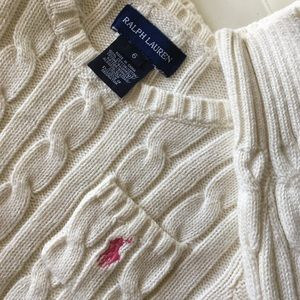 Ralph Lauren cotton knit sweater 6t